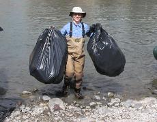 Shoshone River Clean-up, Cody, Wyoming
