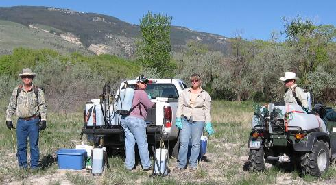 Park County Weed & Pest and Trout Unlimited at Newton Lakes, Wyoming
